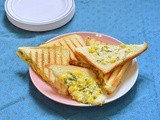 Corn Mayonnaise grilled sandwich - easy bread recipes
