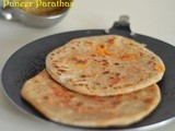 Paneer paratha recipe - Kids lunch box recipes