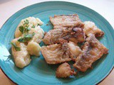 Cod, garlic and mash potatoes