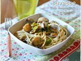 Bavette alle vongole e friggitelli – Bavette with clams and friggitelli peppers