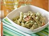 Casarecce integrali con crema di zucchine e feta – Whole wheat pasta with zucchini cream and feta