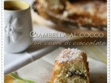 Ciambella al cocco con cuore di cioccolato – Coconut pound cake with chocolate heart