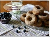 Ciambelline ai mirtilli e cardamomo – Blueberry and cardamom baked donuts