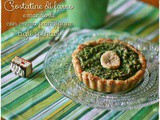 Crostatine di farro e mandorle con crema frangipane agli spinaci – Spelt and almond tartlet with spinach frangipane cream