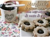 Margherite di grano saraceno con marmellata di more di gelso – Buckwheat sandwich cookies with mulberry jam