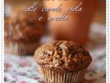 Muffins alle carote viola e uvetta – Purple carrots and raisins muffins
