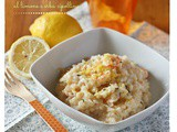 Risotto di mazzancolle al limone e erba cipollina – King prawns risotto with lemon and chive