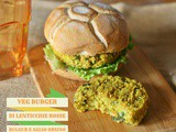 Veg Burger di lenticchie rosse e bulgur all'aglio orsino …ed il #wildapril di StagioniAMO! – Red lentil, bulgur and wild garlic burgers