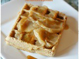 Waffles integrali allo yogurt con confettura di pastinaca – Whole wheat yogurt waffles with parsnip butter