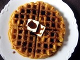 Sweet Potato Waffles with Guinness Syrup