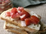 #TomatoLove Recipe Exchange & Tomato Bruschetta with Easy Lime Vinaigrette