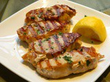 Grilled Lemon & Garlic Pork Chops