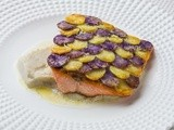 Trout in Vitelotte scale & Mashed Jerusalem artichokes