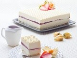 White Chocolate, Raspberry & Mascarpone Mousse cake
