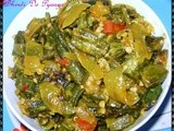 Bhindi Do Pyaza (Spicy Okra & Onion curry)