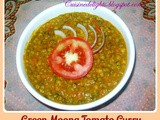 Green Moong Tomato Curry
