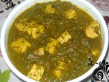 Palak Paneer (Spinach Based Paneer Curry)