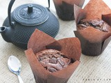 Chocolate muffins (with their little bits)