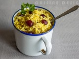 Cinnamon rice with cranberries and saffron