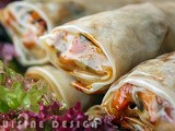 Vietnamese spring rolls with rice paper