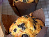 Gros muffins myrtille extra moelleux