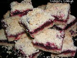 Cranberry filled shortbread bars