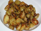 Garlic roasted fingerling potatoes