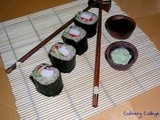 Sushi rolls with crab & brown rice