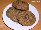 Whole wheat oatmeal raisinet cookies