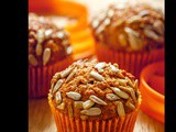 Carrot muffins with sunflower seeds