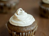 Coffee Cupcakes with vanilla Cinnamon Frosting
