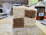 Gbbo – Coffee and Walnut (or almond) Battenberg Cake