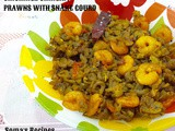Chichinge chingri / prawns with snake gourd