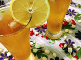 Iced lemon jasmine tea