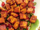Pan fried spicy paneer