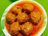 Paneer stuffed potato kofta curry
