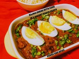 Rajma curry with eggs in a yogurt based gravy