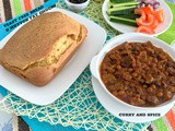 Yeast free milk bread o mutton fat ghugni