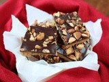 Chocolate almond toffee bars