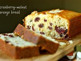 Cranberry-orange walnut bread