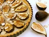 Fig, almond frangipane, and orange tart