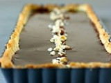 Hazelnut frangipane and nutella-dark chocolate ganache tart