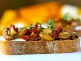 Mushroom and sun-dried tomato bruschetta
