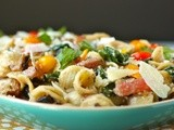Orecchiette with mushrooms, chard, and ricotta pan sauce