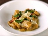 Porcini gnocchi with brown butter and sage
