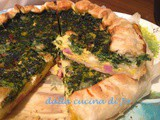 Quiche con brie, cotto ed erbette