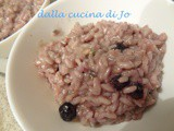 Risotto ai mirtilli e stilton