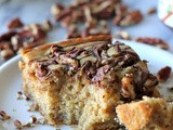 Banana, Pecan and Nutella Swirled Snack Cake