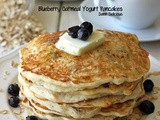 Blueberry Oatmeal Yogurt Pancakes