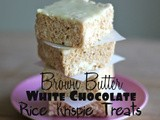 Brown Butter White Chocolate Rice Krispie Treats